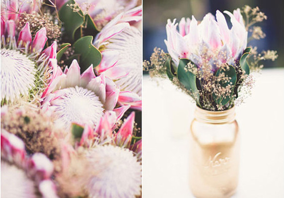 DIY Protea Wedding Flowers and Centerpieces