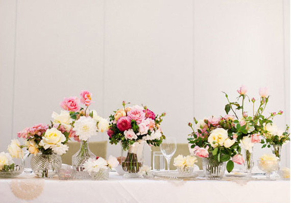 Elegant Pink and Cream Floral Tablescape