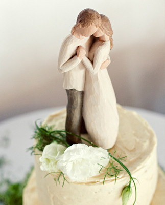 Wood Carved Cake Topper