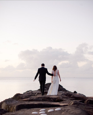 Beach Destination Wedding Portrait