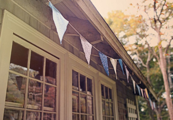 DIY bunting flags