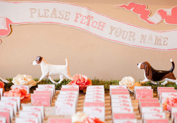 Dog themed escort cards