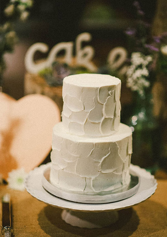 Industrial Vintage Simple Wedding Cake