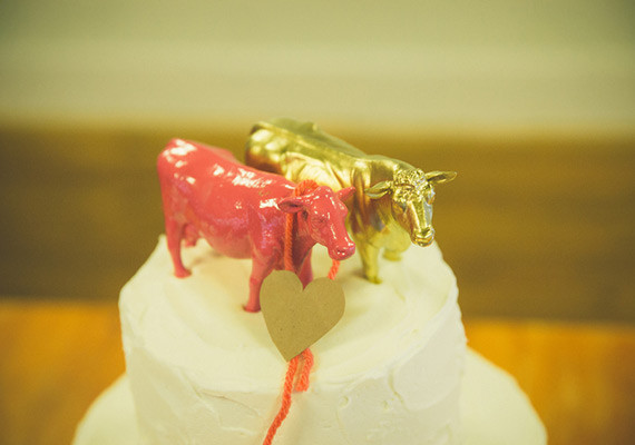 Gold and Pink Animal Cake Toppers