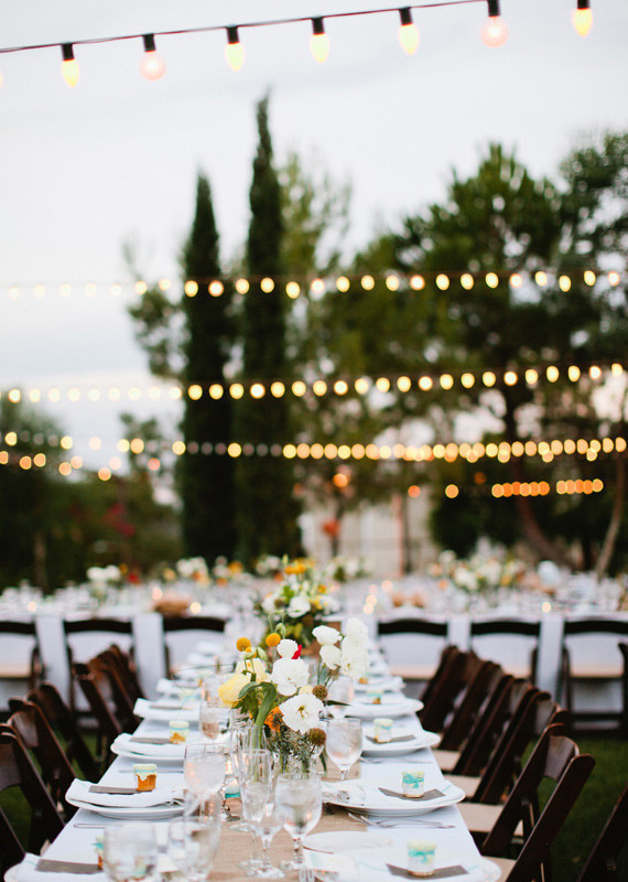 Rustic Garden Estate Reception Decor