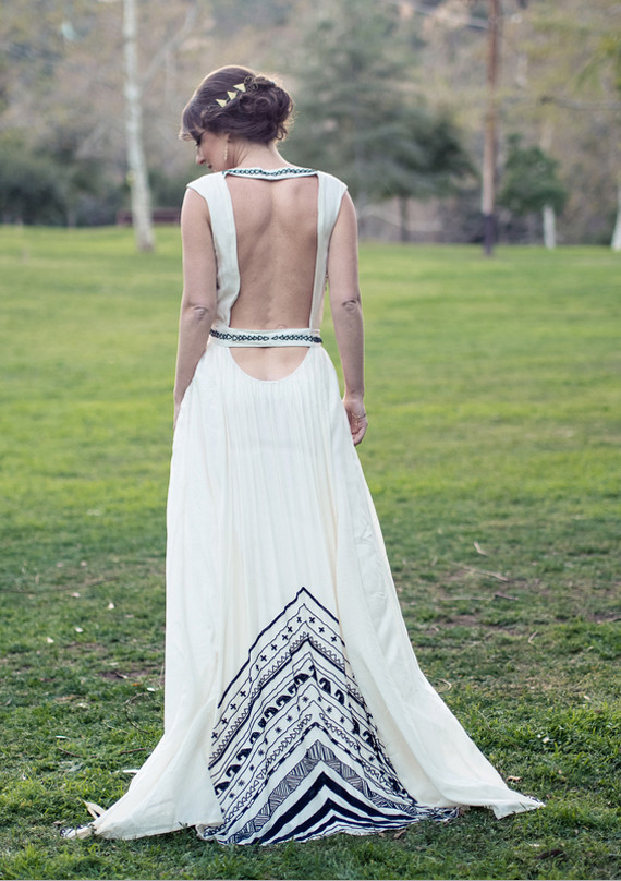 Mara Hoffman Art Deco Dress Back