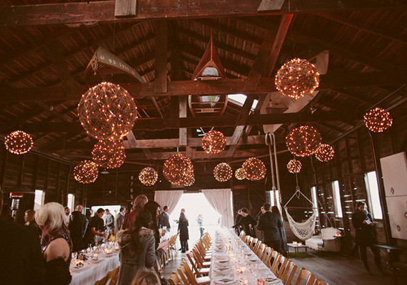 Rustic Hanging Balls with Stringing Lights