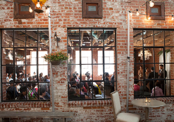 Carondelet House Ceremony Windows with Exposed Brick