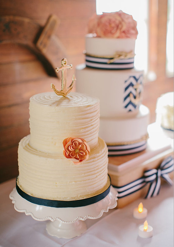 Nautical Anchor Cake Topper