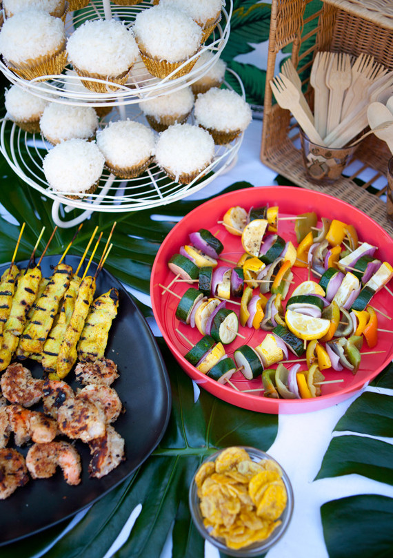 tiki bridal shower food
