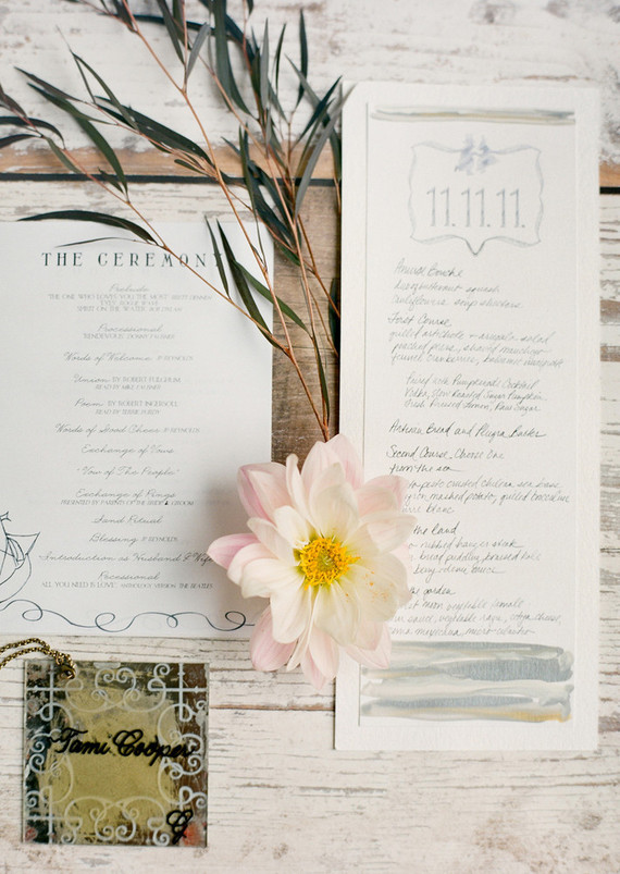 Nautical Wedding Menu