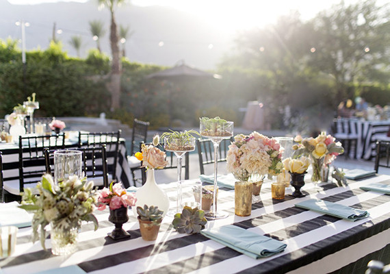 Romantic Palm Springs Wedding Reception