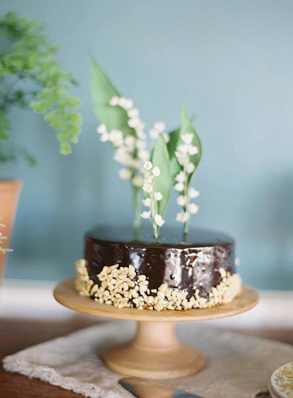 gâteau de mariage vert