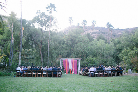 Southern California ranch wedding ceremony