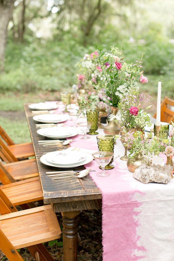 Modern Bohemian Wedding Tablescape