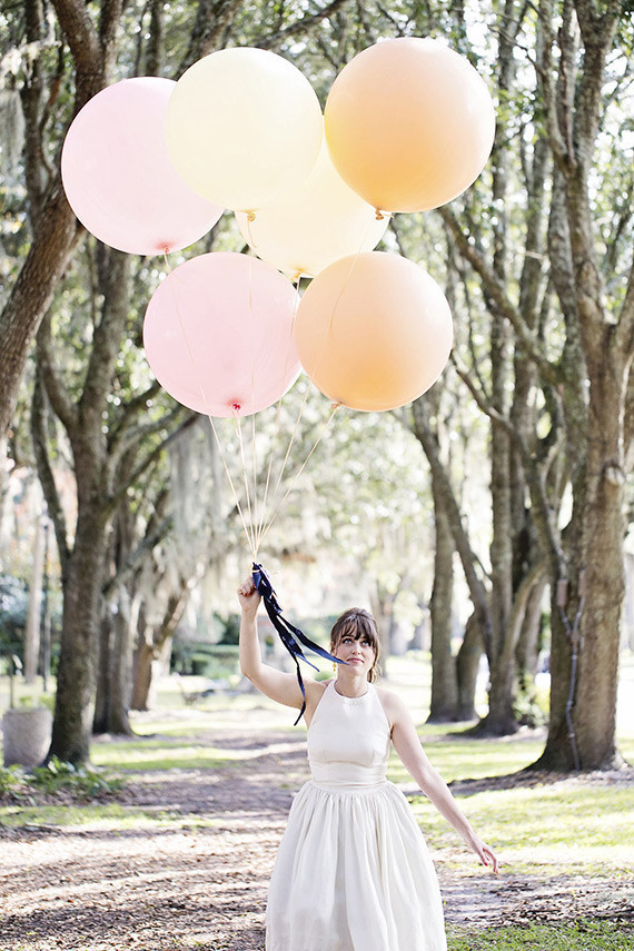 Pink wedding balloons