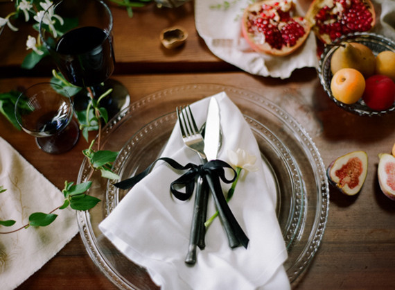 Dramtic Dutch Wedding Place Setting