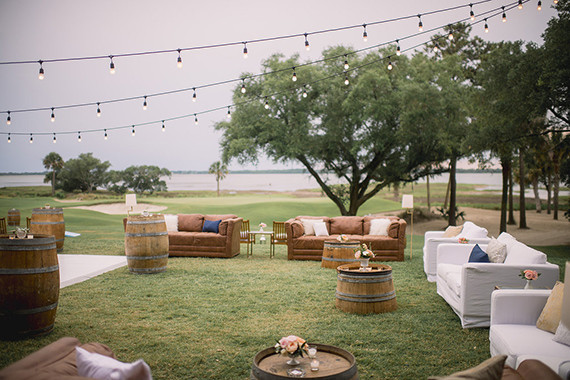 Outdoor Charleston wedding reception lounge