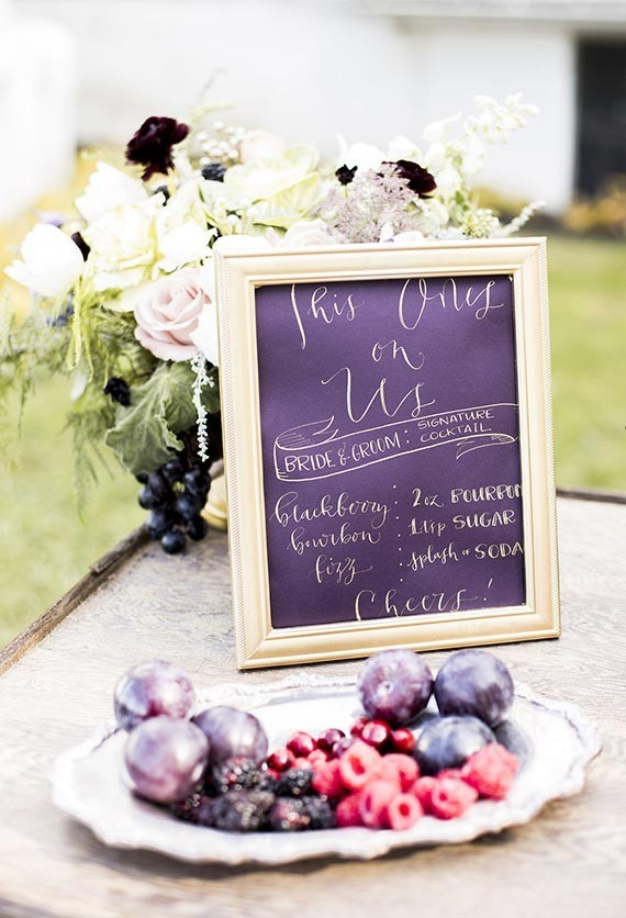 Old World vintage wedding signage