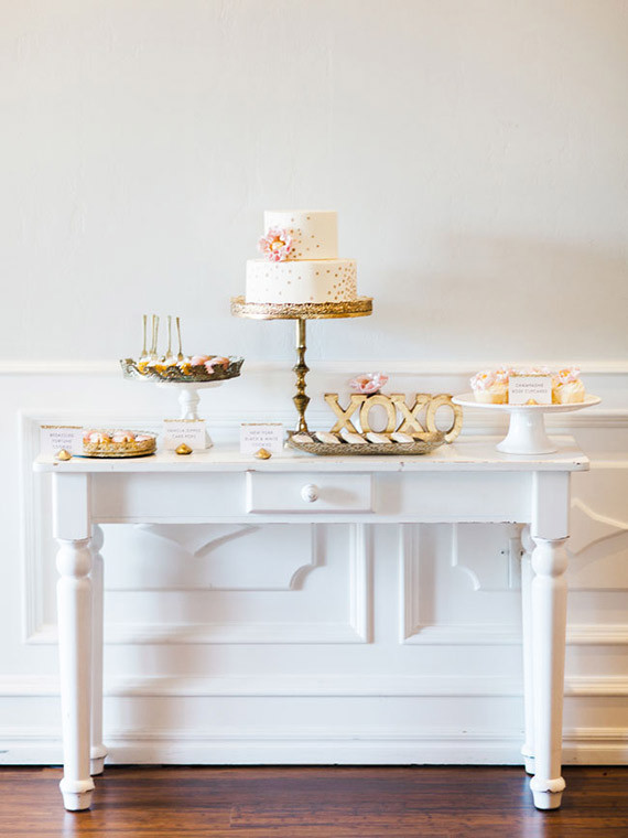 New Year's Bridal Shower Dessert Table