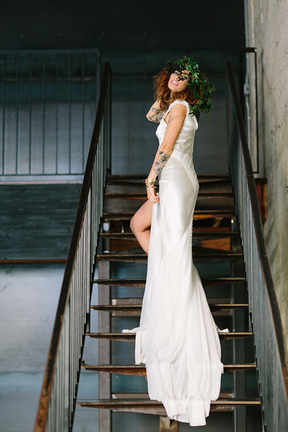 Emerald and gold bridal inspiration