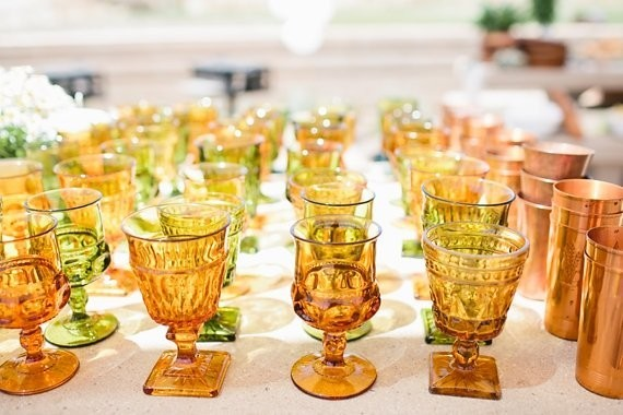 ochre vintage glasses