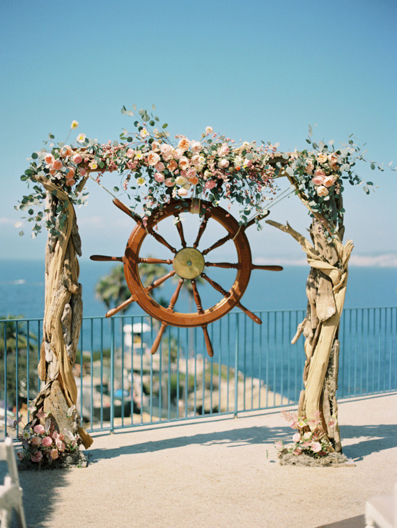 Nautical La Jolla Wedding Altar