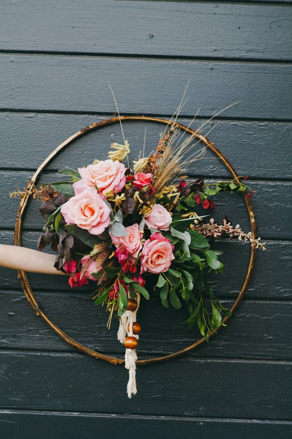Bohemian wedding bouquet