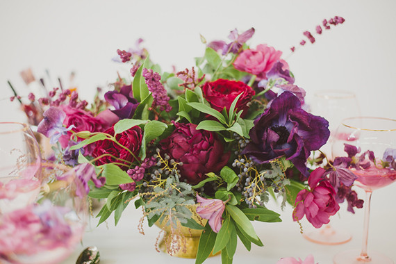 Purple bohemian flowers
