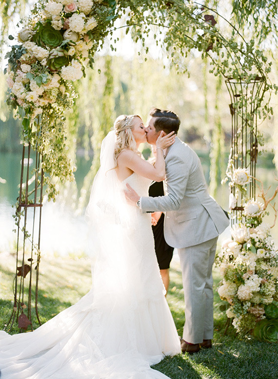 Romantic Outdoor Napa Wedding Ceremony