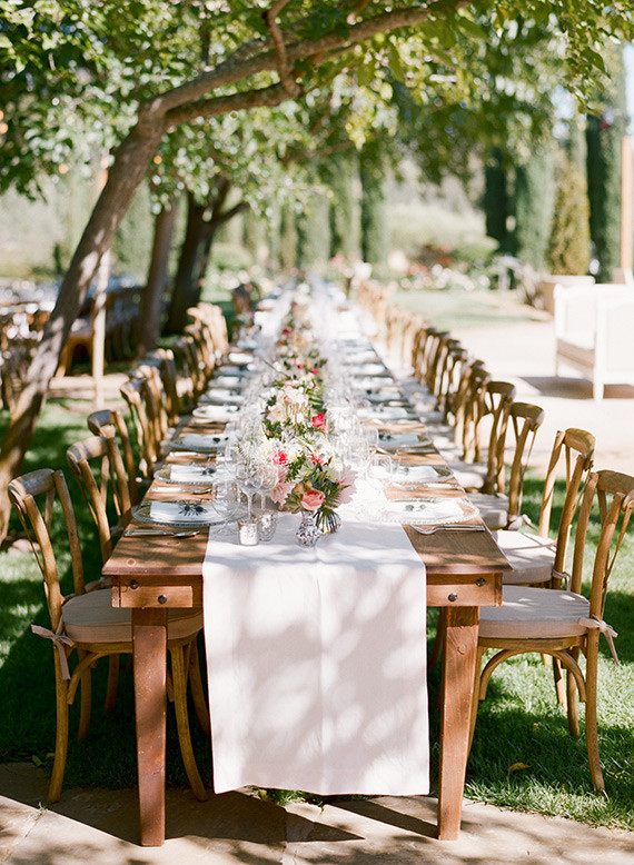 Romantic Outdoor Napa Wedding Tablescape
