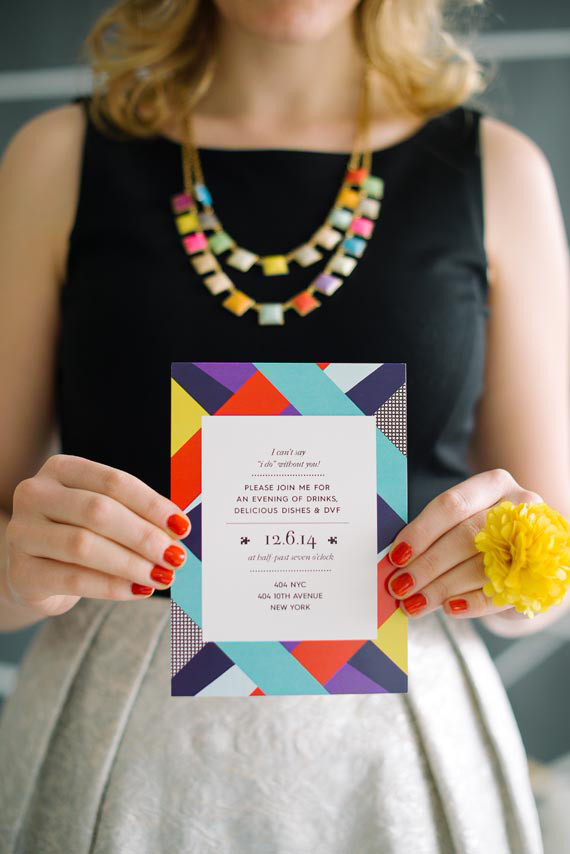 DVF Bridesmaid Party Invitation