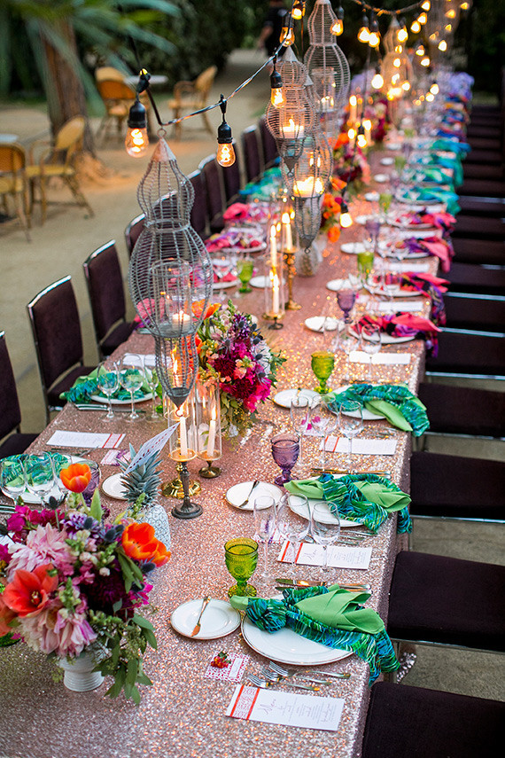 Parker Palm Springs Colorful Wedding Tablescape Wedding
