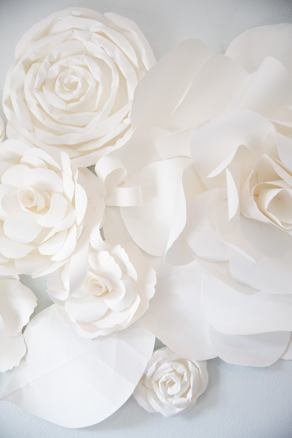 Large scale paper flowers