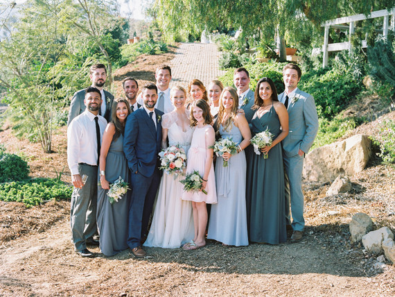 Grey wedding party