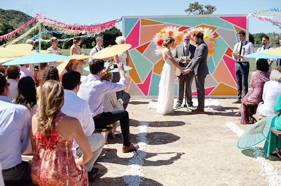 Modern Mexican themed ceremony