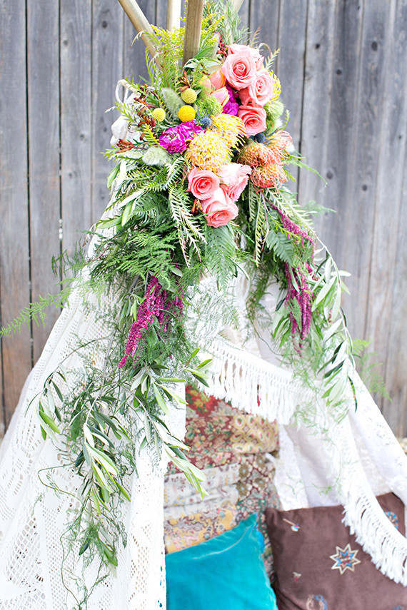 Floral Teepee Wedding Amp Party Ideas 100 Layer Cake