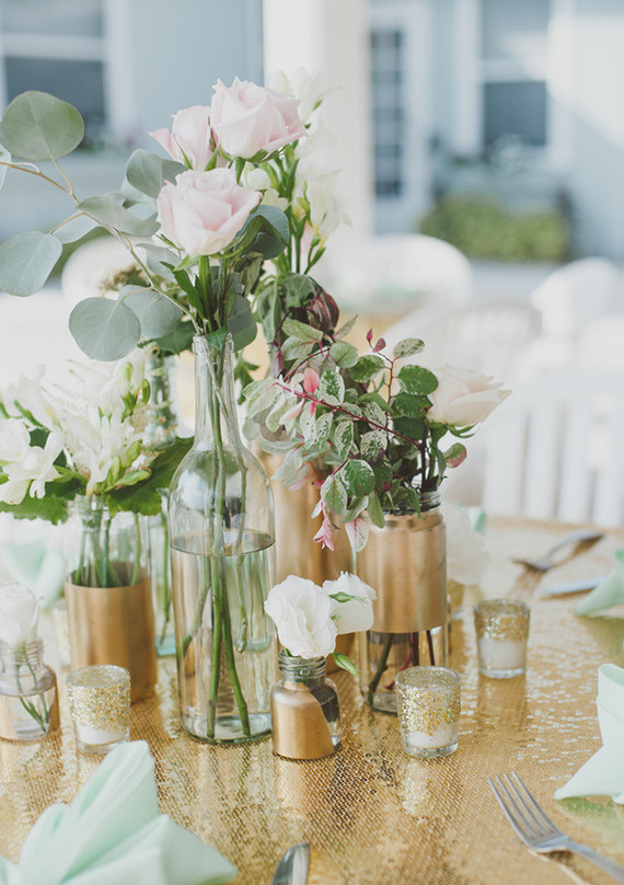 Gold and mint wedding decor | Wedding & Party Ideas | 100 ...