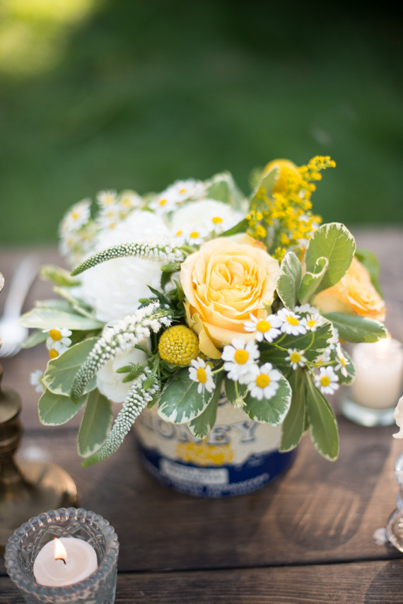 Yellow And White Floral Centerpiece Wedding Party Ideas 100