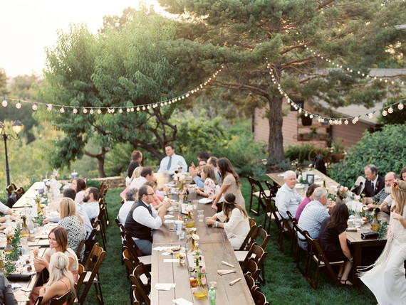 Summer backyard wedding reception