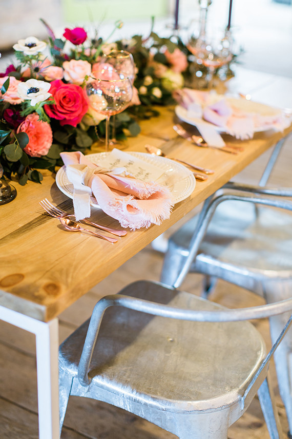 Pink And Rose Gold Tablescape Wedding Amp Party Ideas 100 Layer Cake