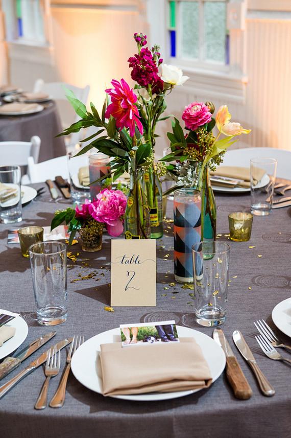 Modern Geometric Tablescape Wedding Party Ideas 100