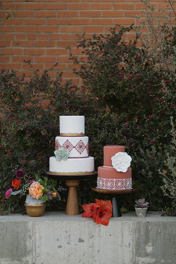 Spanish wedding inspired cake table