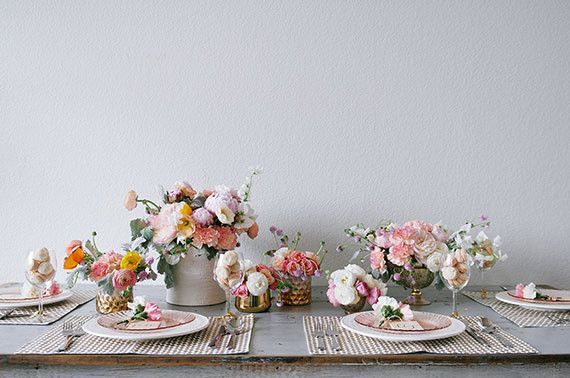 Pink and orange Mother's Day tablescape