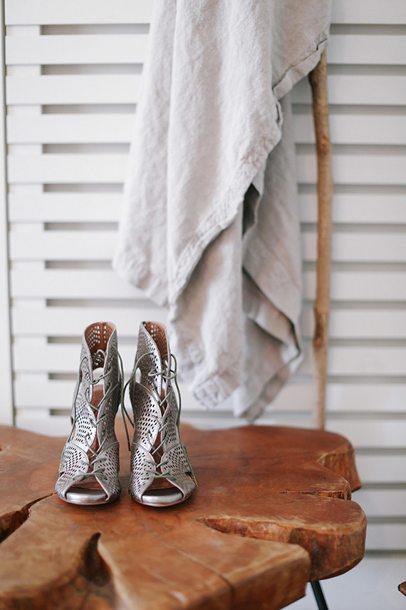 Joie silver wedding shoes