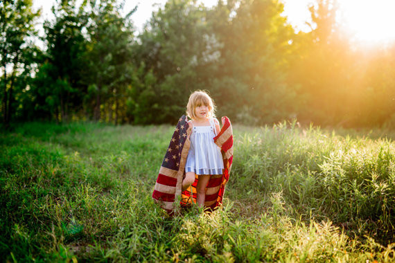 4th of July Sister Portraits
