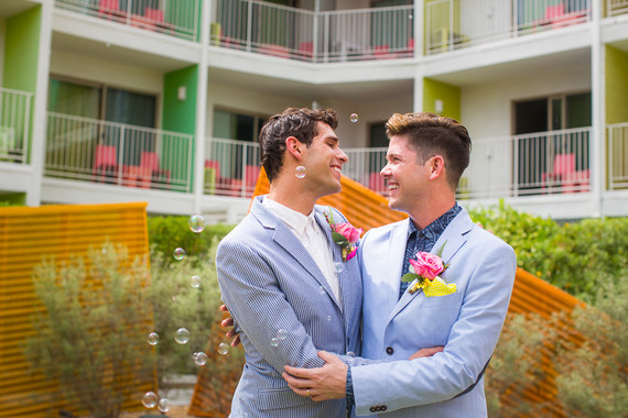 Saguaro Hotel Palm Springs wedding portraits