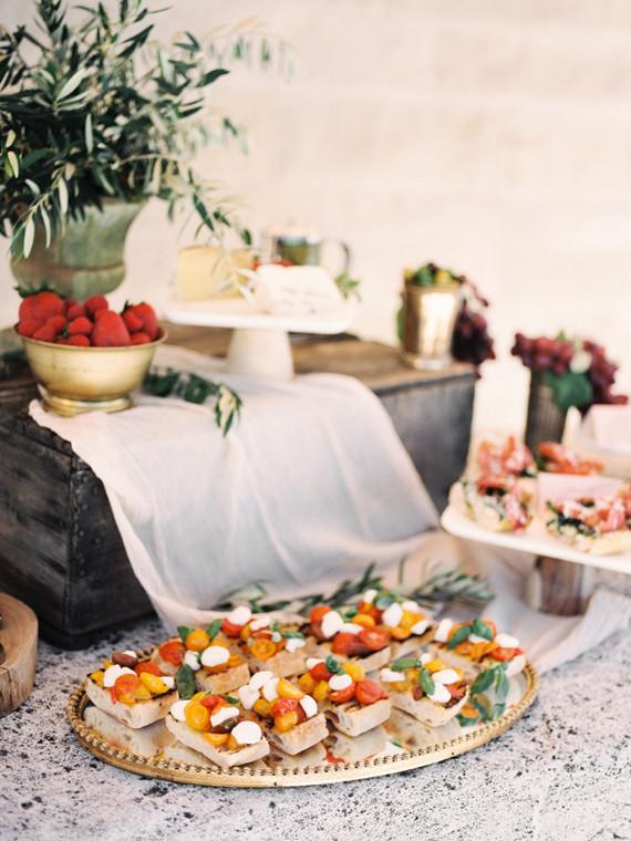 Italian Inspired Wedding Food