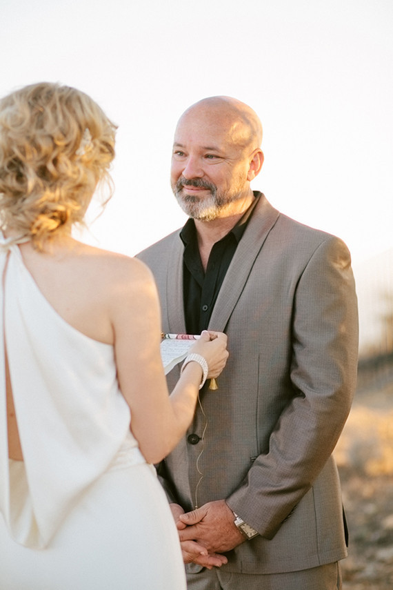 Malibu sunset elopement portrait