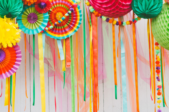 colorful Photo Booth back drop
